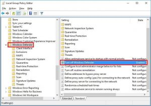 Vô hiệu hóa Windows Defender bằng Local Group Policy